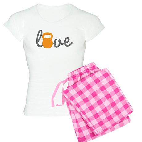 Love Kettlebell in Orange Women's Light Pajamas