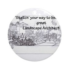 Landscape Architect Ornament (Round)