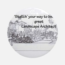 Landscape Architect Ornament (Round)