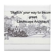 Landscape Architect Tile Coaster