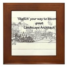 Landscape Architect Framed Tile