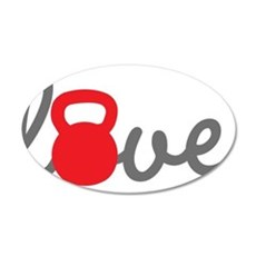 Love Kettlebell in Red Wall Decal