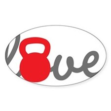 Love Kettlebell in Red Decal