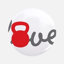"""Love Kettlebell in Red 3.5"""" Button"""