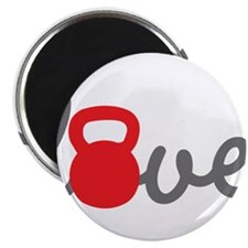"""Love Kettlebell in Red 2.25"""" Magnet (10 pack)"""