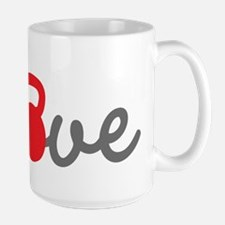 Love Kettlebell in Red Ceramic Mugs