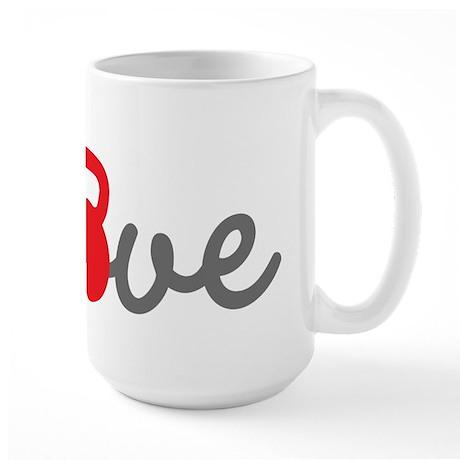 Love Kettlebell in Red Large Mug
