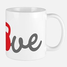 Love Kettlebell in Red Small Mugs