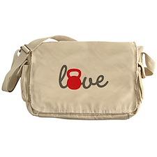 Love Kettlebell in Red Messenger Bag