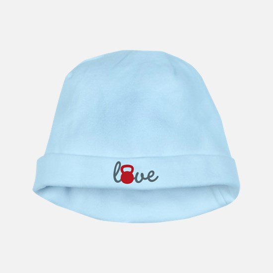 Love Kettlebell in Red baby hat