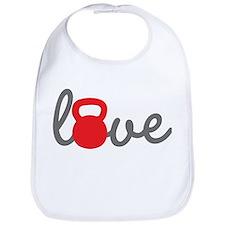 Love Kettlebell in Red Bib