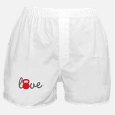 Love Kettlebell in Red Boxer Shorts