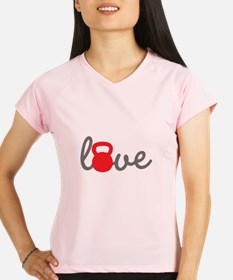 Love Kettlebell in Red Performance Dry T-Shirt