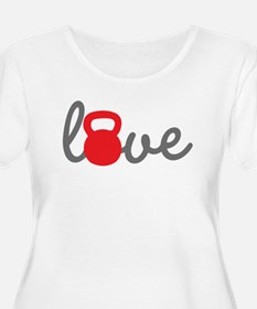 Love Kettlebell in Red T-Shirt