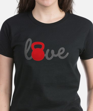 Love Kettlebell in Red Tee