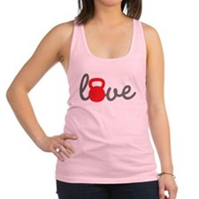Love Kettlebell in Red Racerback Tank Top
