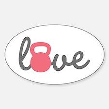 Love Kettlebell in Pink Bumper Stickers