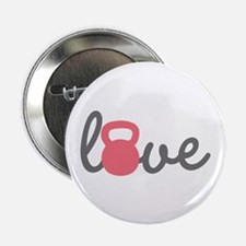 """Love Kettlebell in Pink 2.25"""" Button (10 pack"""