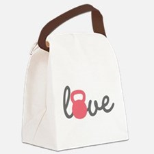 Love Kettlebell in Pink Canvas Lunch Bag