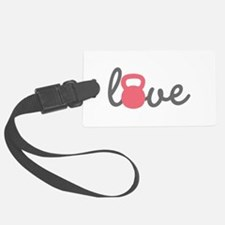 Love Kettlebell in Pink Luggage Tag