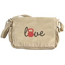 Love Kettlebell in Pink Messenger Bag