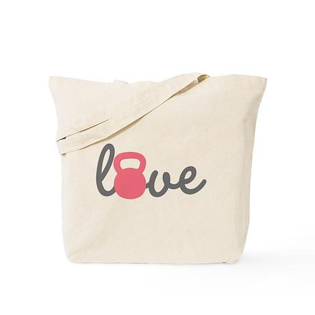 Love Kettlebell in Pink Tote Bag