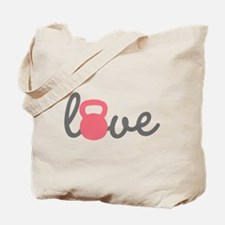 Love Kettlebell in Pink Tote Bag