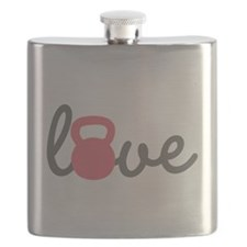 Love Kettlebell in Pink Flask