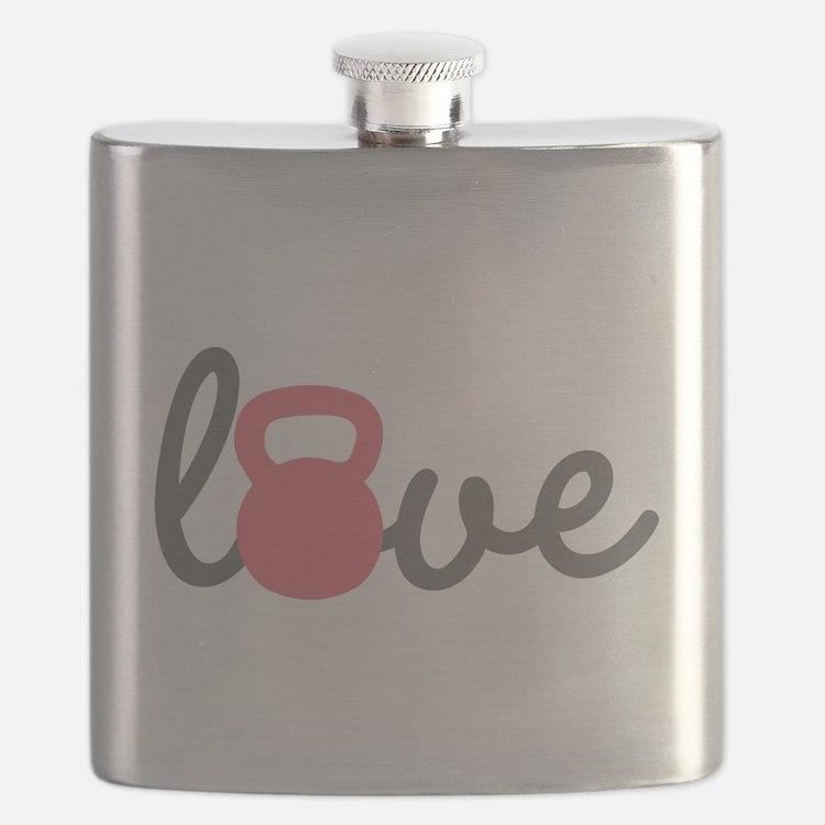 Love Kettlebell in Pink Flask
