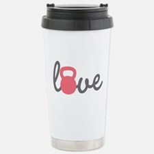 Love Kettlebell in Pink Travel Mug