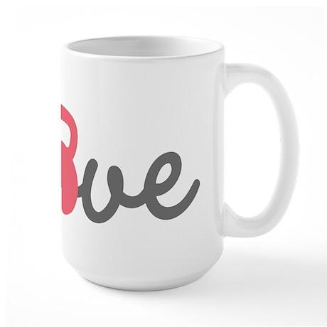 Love Kettlebell in Pink Large Mug