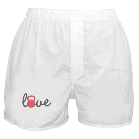 Love Kettlebell in Pink Boxer Shorts