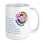 GLBT Equality Large Mug