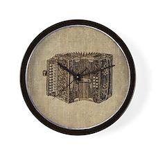 Vintage Accordion Wall Clock