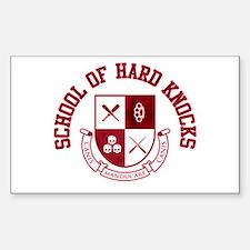School of Hard Knocks Sticker (Rectangle)
