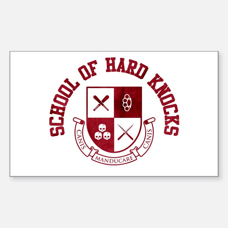 School of Hard Knocks Sticker (Rectangle)