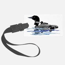 loon with babies Luggage Tag