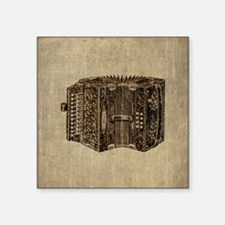 "Vintage Accordion Square Sticker 3"" x 3"""