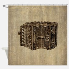 Vintage Accordion Shower Curtain