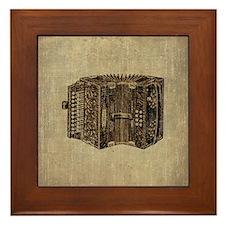 Vintage Accordion Framed Tile
