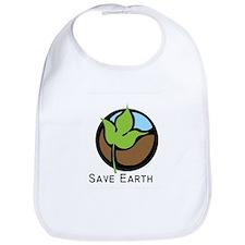 Save The Earth Logo Bib