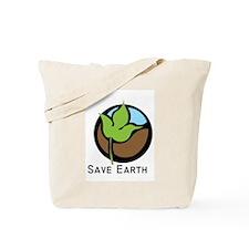 Save The Earth Logo Tote Bag