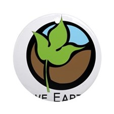 Save The Earth Logo Ornament (Round)