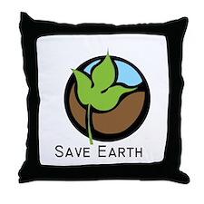 Save The Earth Logo Throw Pillow