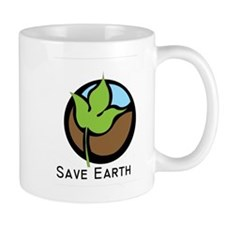 Save The Earth Logo Small Mug