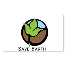 Save The Earth Logo Decal