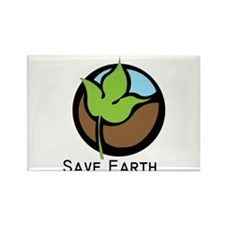 Save The Earth Logo Rectangle Magnet
