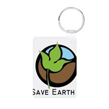 Save The Earth Logo Keychains