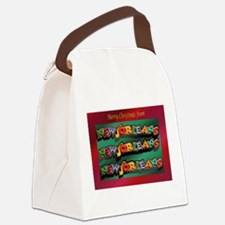 FrenchQuarterChristmasCard.png Canvas Lunch Bag