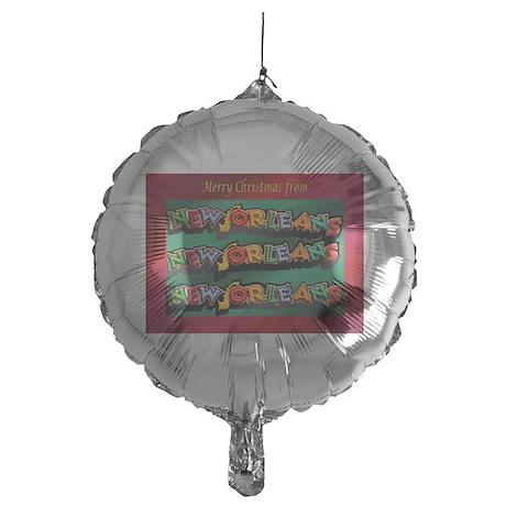FrenchQuarterChristmasCard.png Mylar Balloon